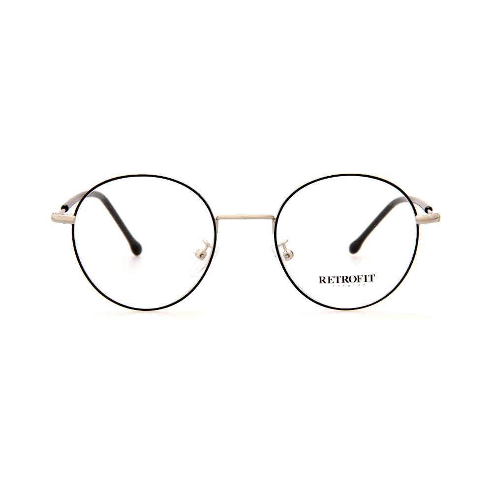RETROFIT WFIH1049 C5 Silver/ Black Eyeglasses