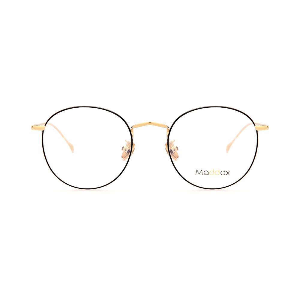 MADDOX Unisex Round Black/Gold WFIH1028 C12 Eyeglasses