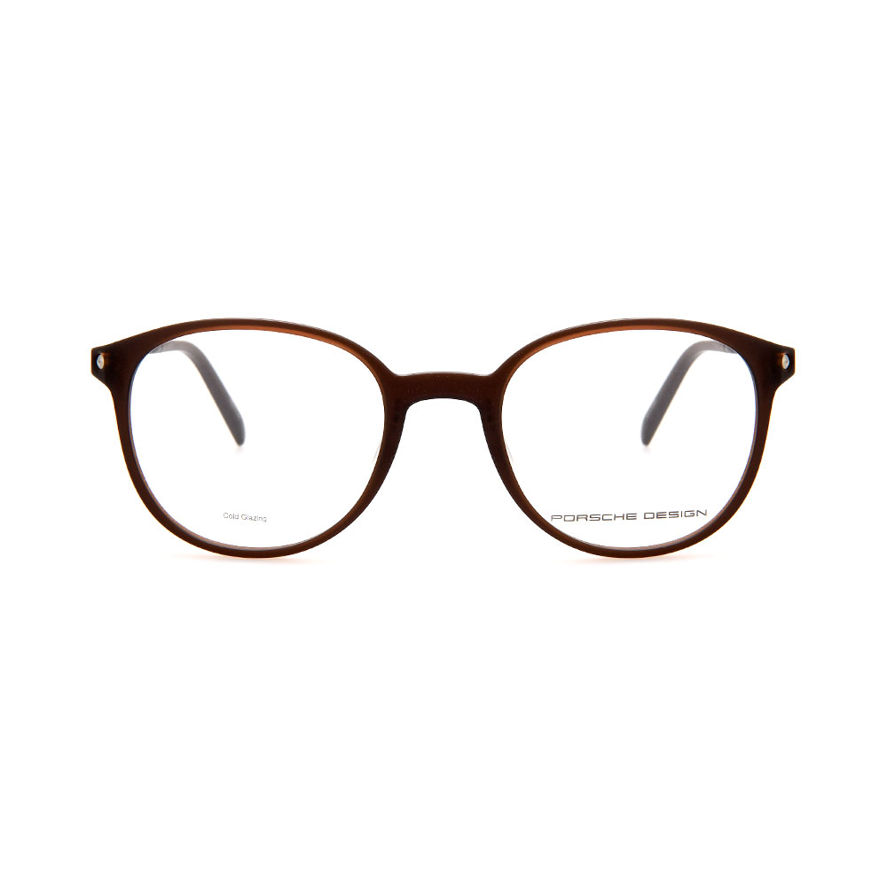 PORSCHE DESIGN Brown Round 8335 B Eyeglasses