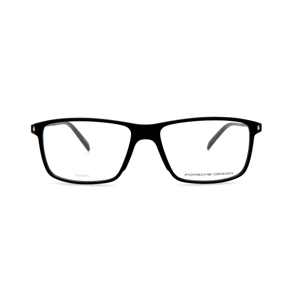 PORSCHE DESIGN Black/Silver Rectangle 8336 A Eyeglasses