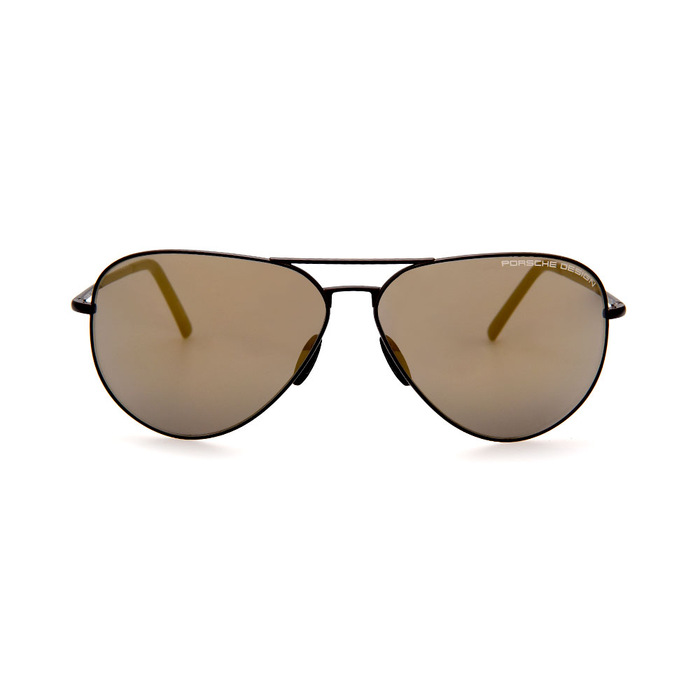 PORSCHE DESIGN Black/Brown Aviator 8508 O Sunglasses