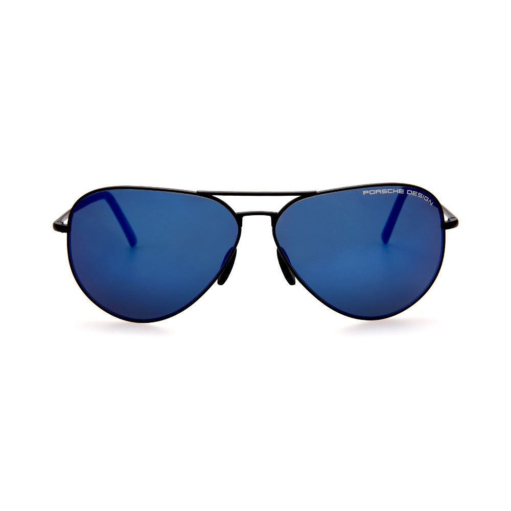 PORSCHE DESIGN Black/Blue Aviator 8508 P Sunglasses