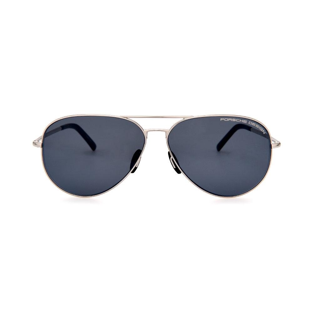 PORSCHE DESIGN Silver/Black Aviator 8686 C Sunglasses