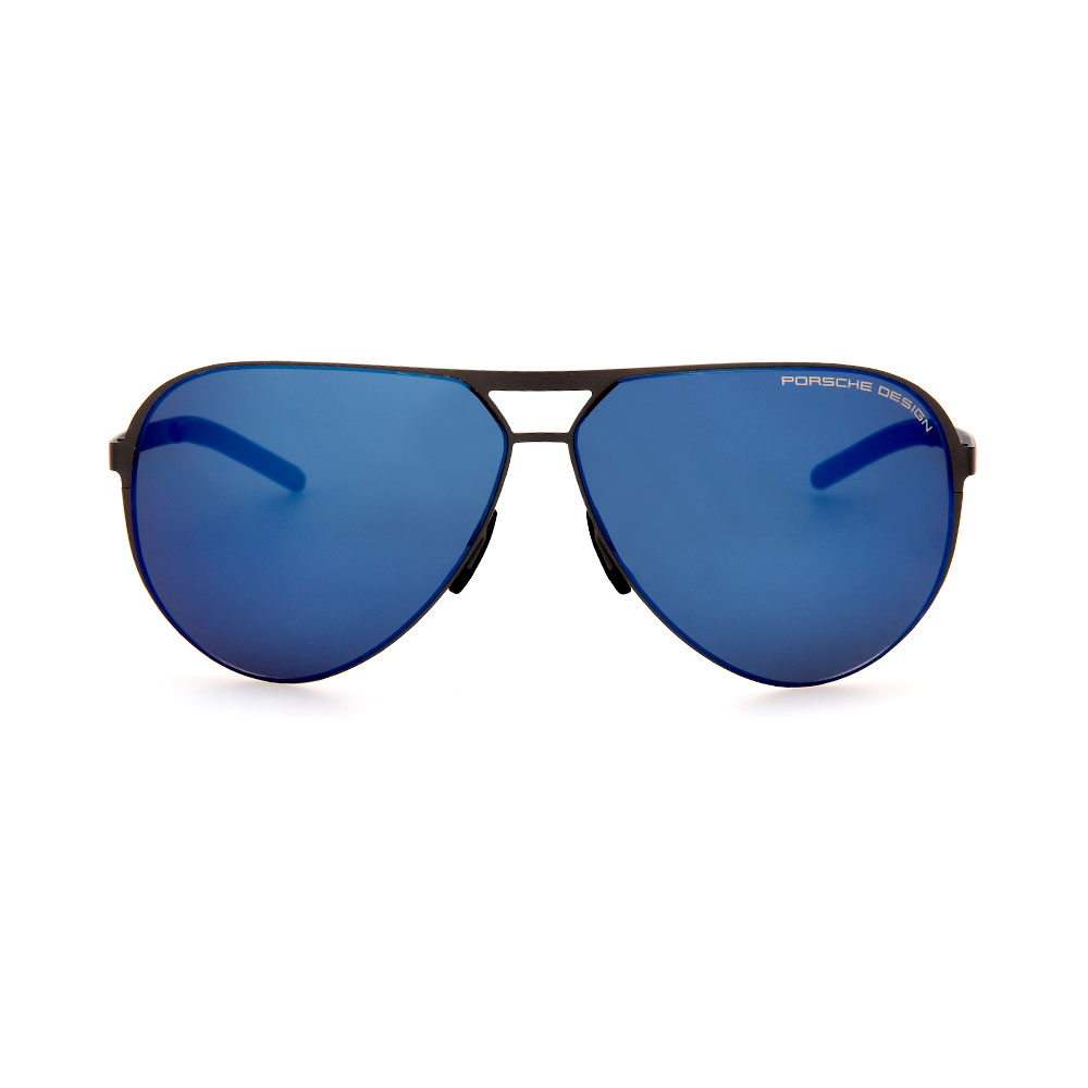 PORSCHE DESIGN Black/Blue Aviator 8670 D Sunglasses