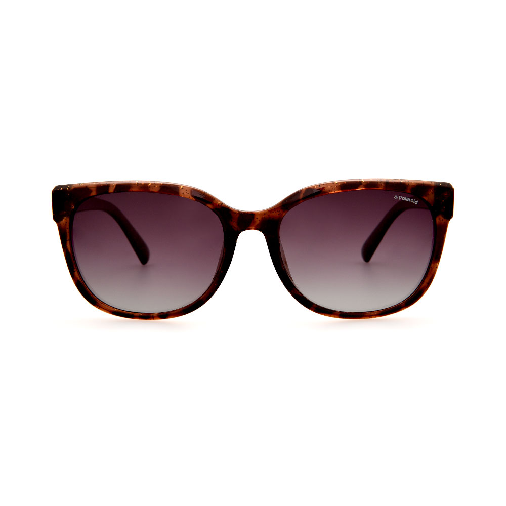 POLAROID Female Cat-Eye Leopard Print PLD4030 Brown Polarized Lenses Sunglasses