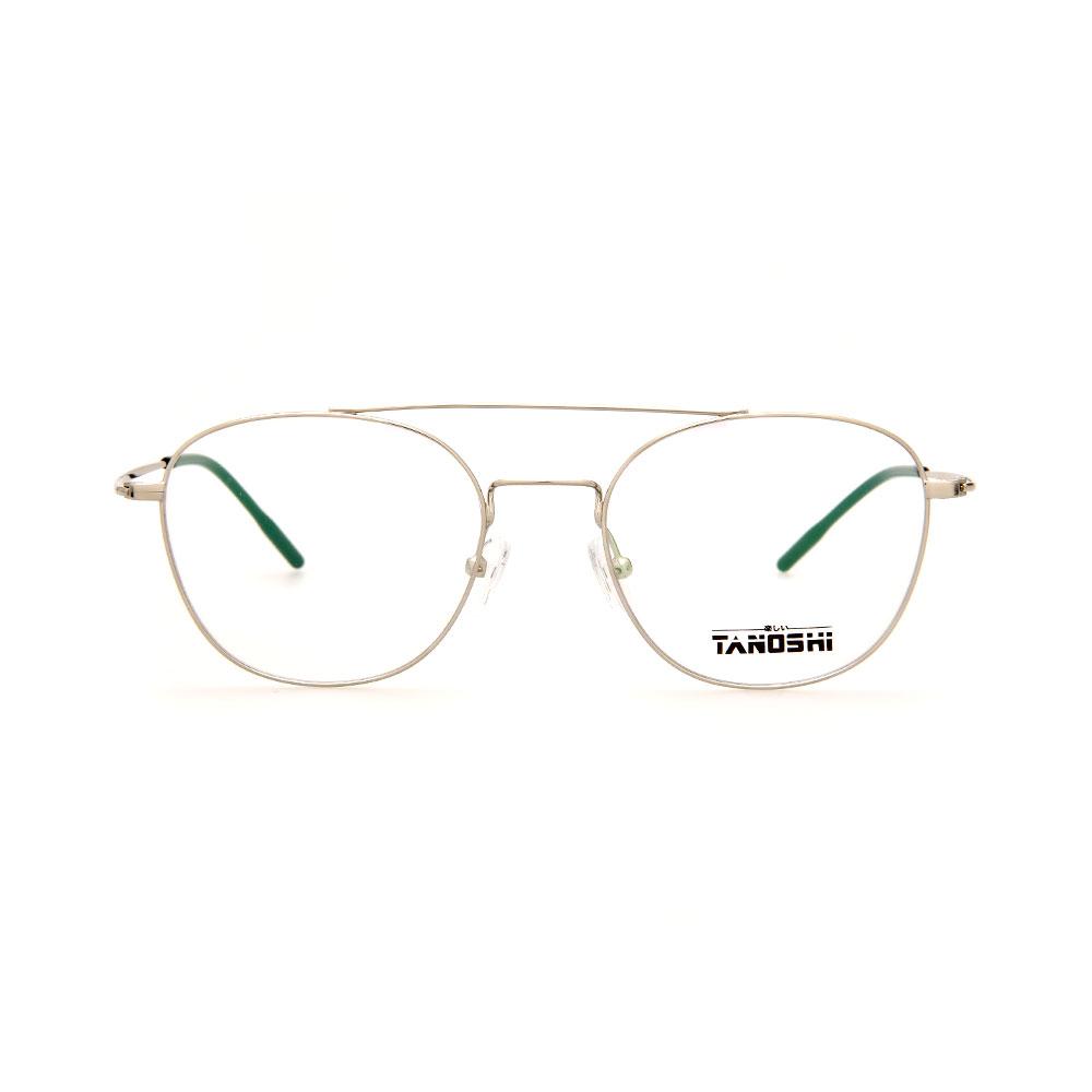 TANOSHI DE16318 C02 Avaitor Sliver Eyeglasses