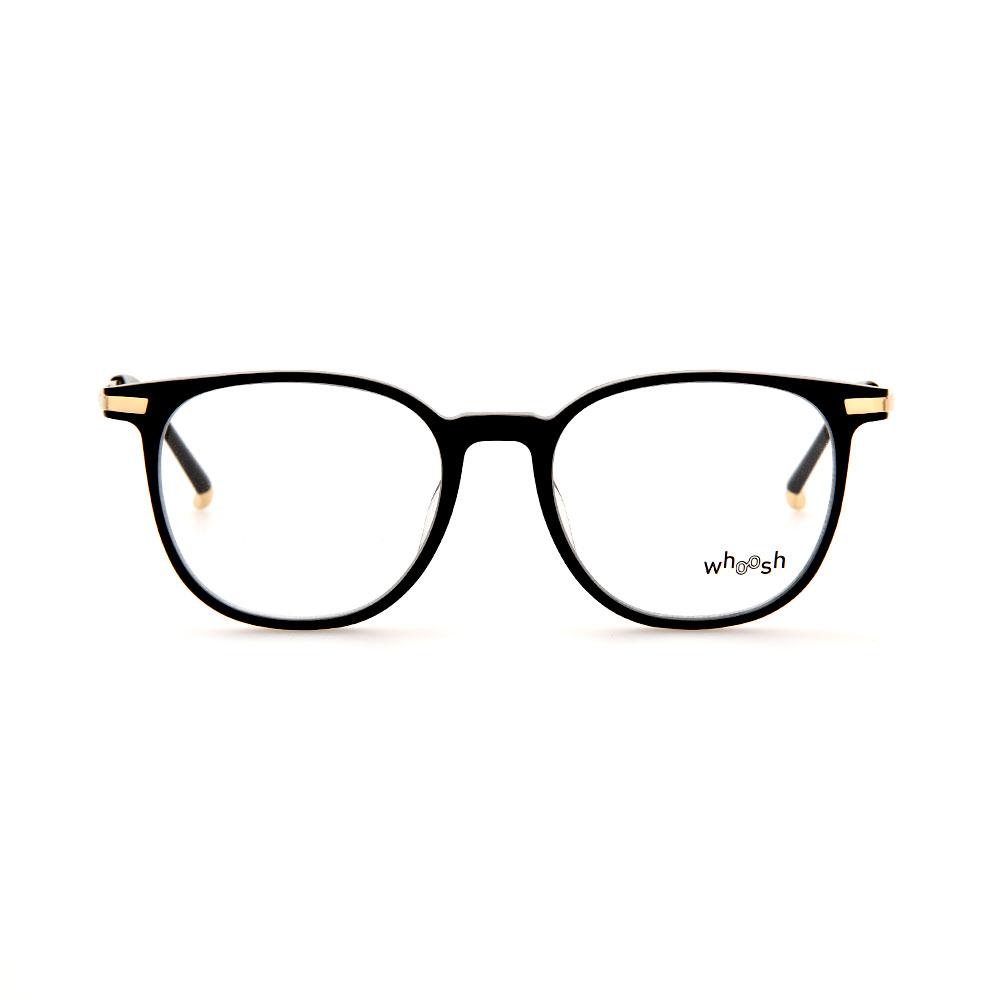WHOOSH Vintage Series Black/Gold Wayfarer TT4205 C1 Eyeglasses