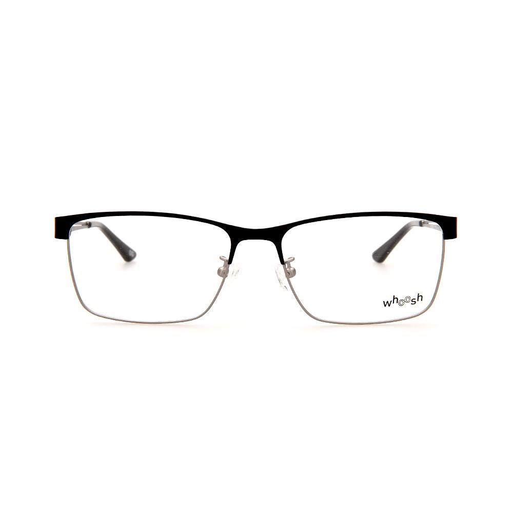 WHOOSH Urban Series Black/Silver Rectangle HE2292 C1 Eyeglasses