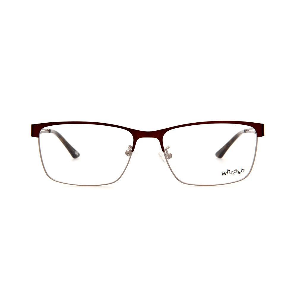 WHOOSH Urban Series Brown/Silver Rectangle HE2292 C2 Eyeglasses