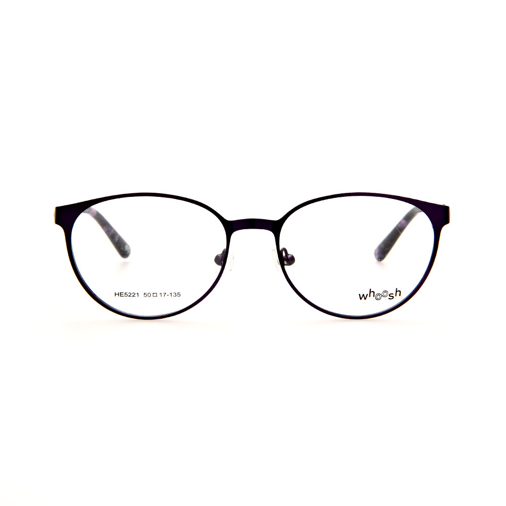 WHOOSH Urban Series Tortoise Purple Oval HE5221 C2 Eyeglasses