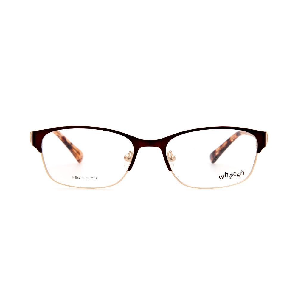 WHOOSH Urban Series Light Brown Rectangle HE5208 C3 Woman Eyeglasses