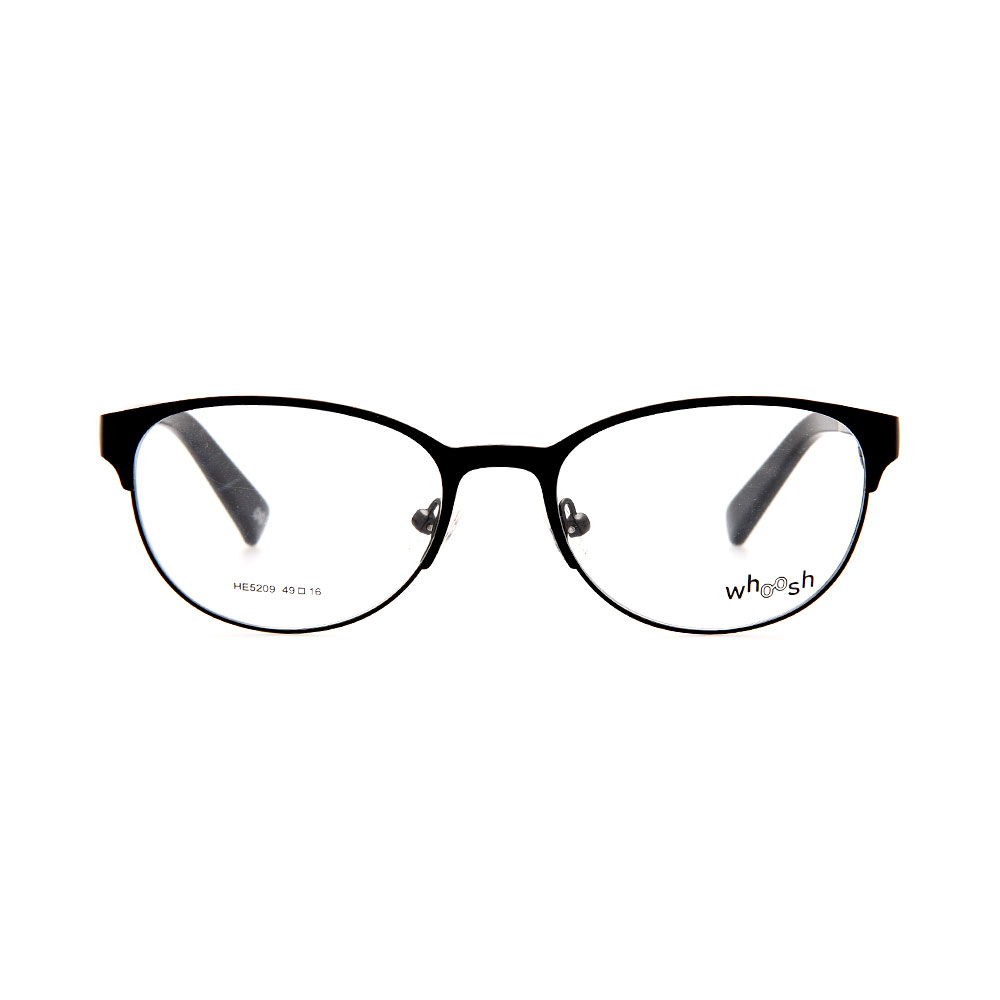 WHOOSH Urban Series Black Oval HE5209 C1 Unisex Eyeglasses