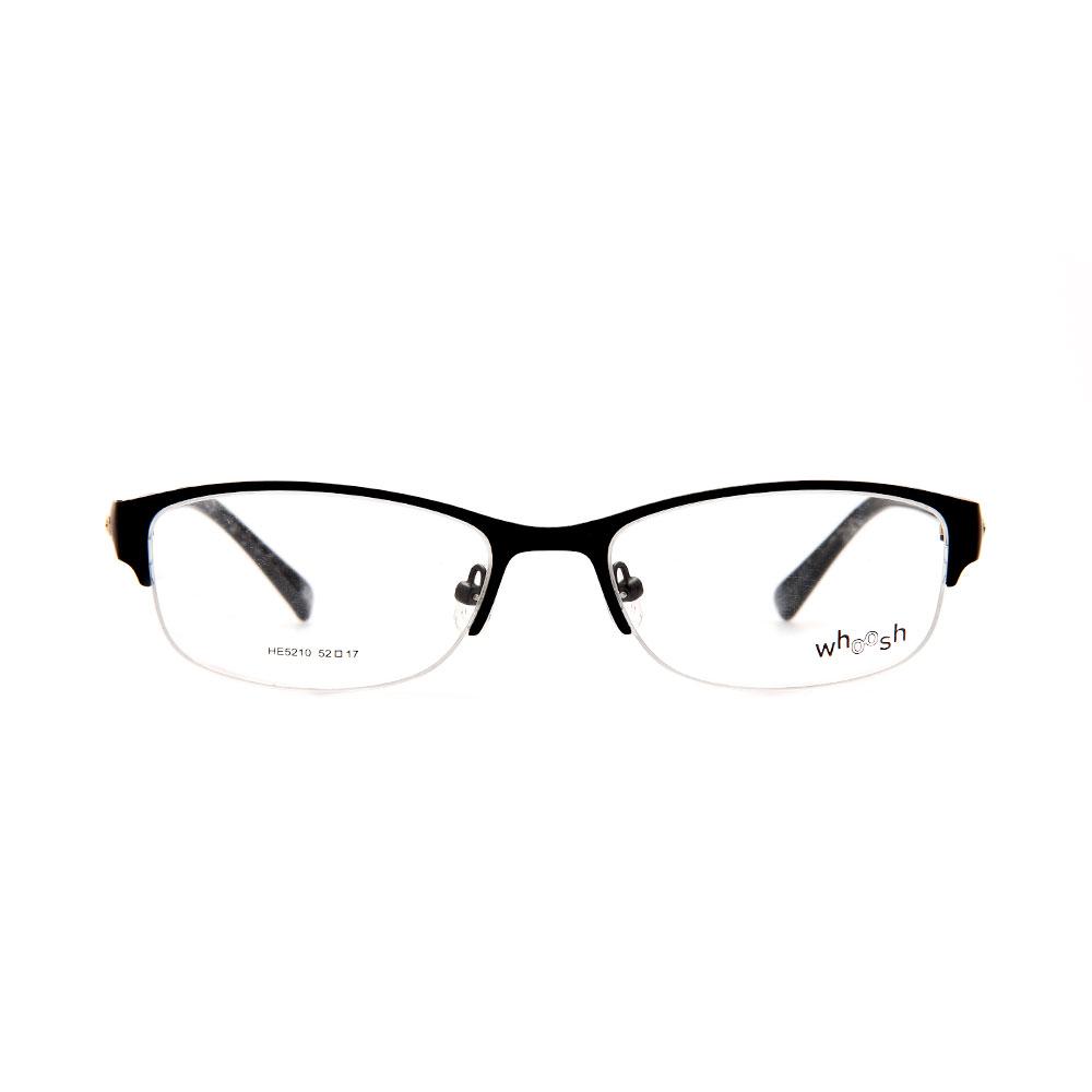 WHOOSH Urban Series Black Rectangle HE5210 C1 Woman Eyeglasses