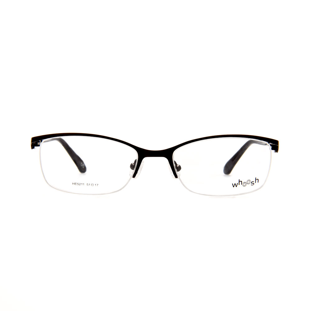 WHOOSH Urban Series Black Rectangle HE5211 C1 Man Eyeglasses