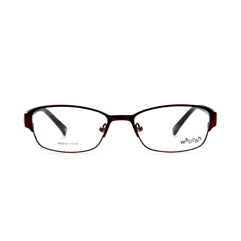 WHOOSH Urban Series Dark Brown Rectangle HE5212 C2 Woman Eyeglasses