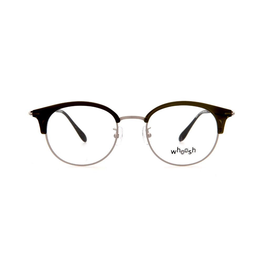 WHOOSH Vintage Series Round Wayfarer Black/Silver OK16274 C2 Eyeglasses