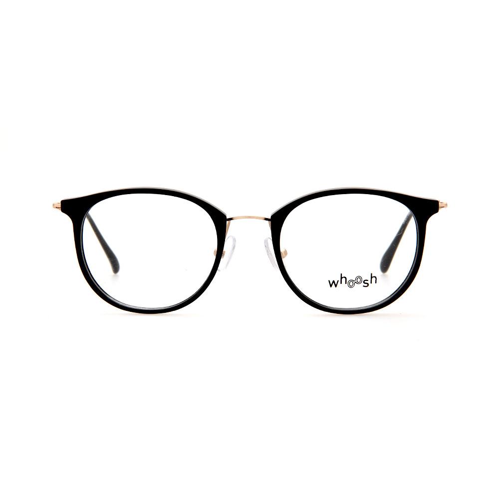 WHOOSH Vintage Series Round Wayfarer Black/Gold OK16272 C2 Eyeglasses